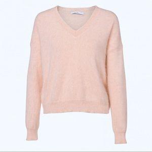 NEW Philosophy Pink V Neck Sweater Size L